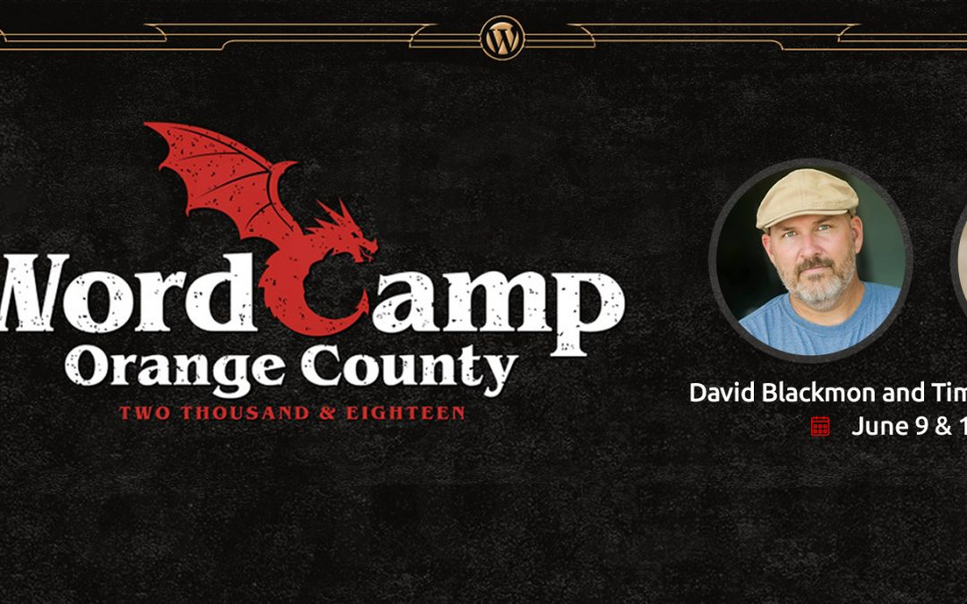 Join David and Tim at WordCamp Orange County 2018