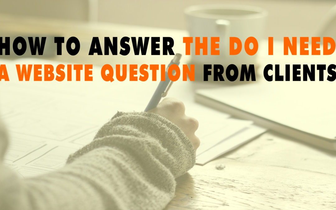How To Answer The Do I Need A Website Question From Clients  | EP 623